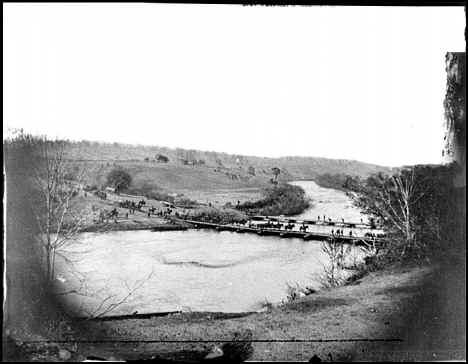 The crossing of the rapidan riverat germanna ford